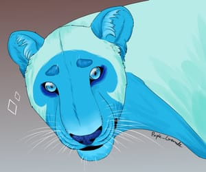 lion, steven universe, and bluediamond image