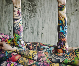 arms, colors, and tattoo image