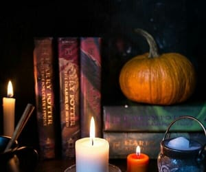 autumn, pumpkin, and book image