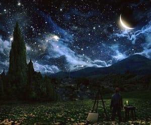 stars, night, and moon image