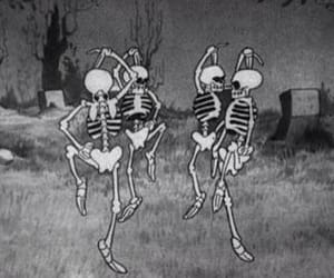 skeleton, autumn, and dance image