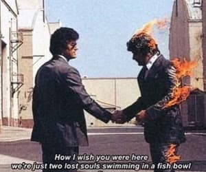 Pink Floyd, Lyrics, and wish you were here image