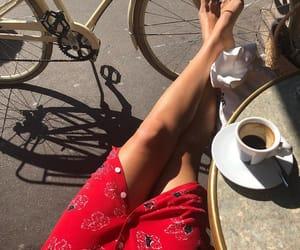 fashion, coffee, and bike image