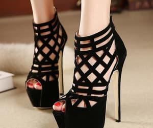black and high heels image