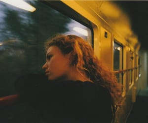 girl, grunge, and train image