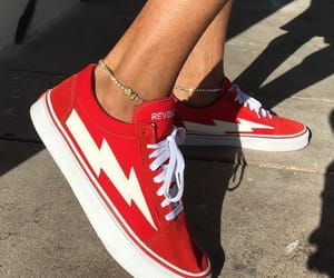 shoes, red, and vans image