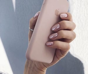 iphone, luxury, and manicure image