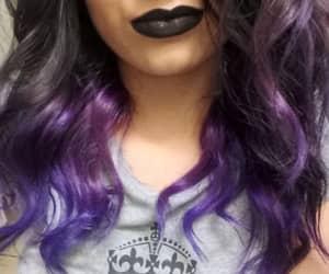 cabelo colorido and cabelo roxo image