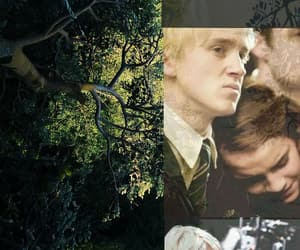 draco malfoy, green, and gryffindor image