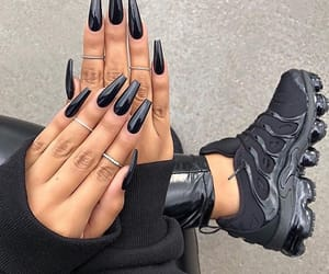nails, black, and shoes image