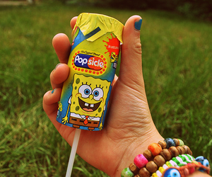 spongebob, photography, and popsicle image