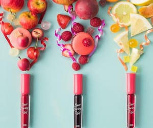 cosmetics, fruit, and pink image