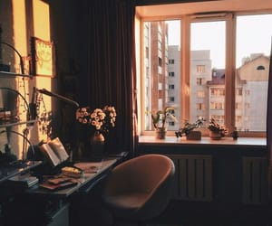 room, flowers, and study image