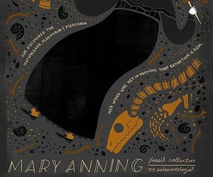 dinosaurs, paleontologist, and mary anning image