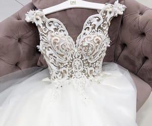 bride, wedding, and white wedding dress image