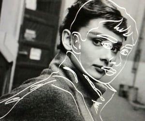 audrey hepburn, art, and black and white image
