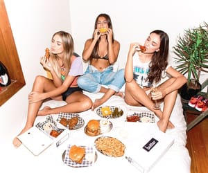 chilling, friendship, and girls night image