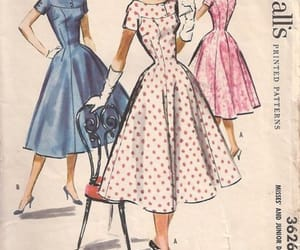 50s, dresses, and magazine image
