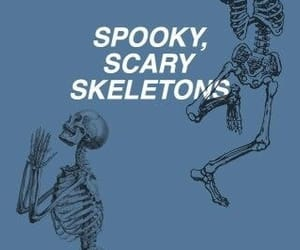 skeleton, Halloween, and spooky image