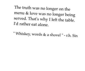 alone, menu, and quotes image