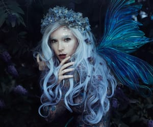 aesthetic, blue, and faery image
