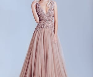 blush, wedding gown, and dress image