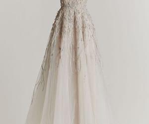 dress, wedding, and ivory image
