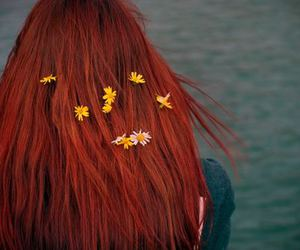 flowers, red hair, and redhead image