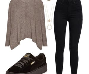 outfit, Polyvore, and puma image