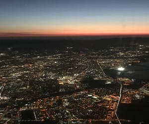 city, lights, and los angeles image