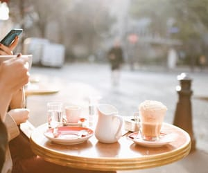 chic, city, and coffee image