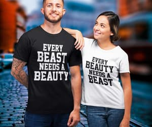 beauty and beast, disney couple, and etsy image