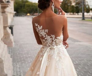 wedding dress lace and open back wedding dress image