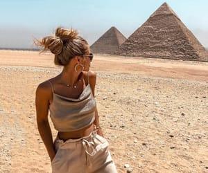 fashion, girl, and egypt image