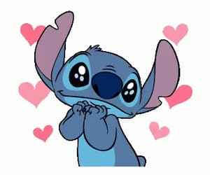 disney, stitch, and heart meme image