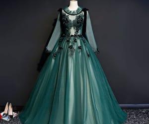 dark green dress, 2019, and prom dress image