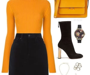 bag, high heels, and clothes image