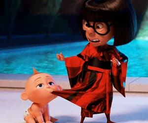 funny, pixar, and edna mode image