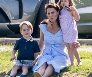 kate middleton, princess charlotte, and prince george image