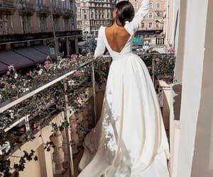 dress, balcony, and beauty image