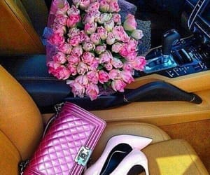 pink, flowers, and chanel image