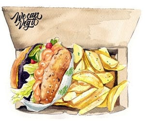 burger, fast food, and drawn food image