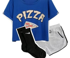clothes, outfit, and pizza image