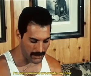 Queen, Freddie Mercury, and gif image