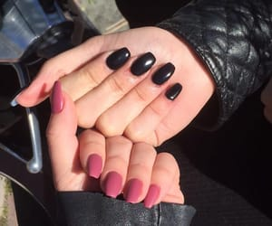 black, matte, and nail image