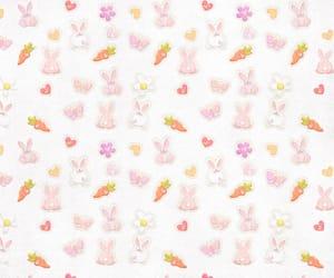 background, kawaii, and bunny image