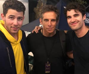 ben stiller, criss colfer, and nick jonas image