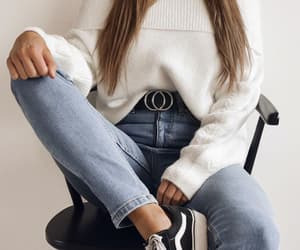 autumn, jeans, and outfit image