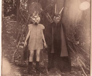 bizarre, black and white, and costumes image