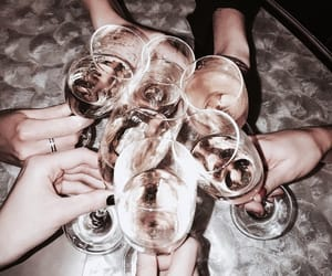friends, drink, and champagne image